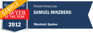 Samuel Minzberg has earned a Lawyer of the Year award for 2012!