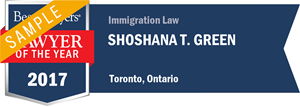 Shoshana T. Green has earned a Lawyer of the Year award for 2017!