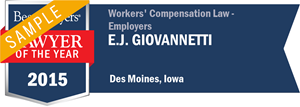 E. J. Giovannetti has earned a Lawyer of the Year award for 2015!