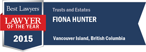 Fiona Hunter has earned a Lawyer of the Year award for 2015!