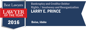 Larry E. Prince has earned a Lawyer of the Year award for 2016!