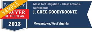 J. Greg Goodykoontz has earned a Lawyer of the Year award for 2013!