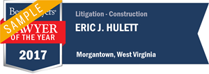 Eric J. Hulett has earned a Lawyer of the Year award for 2017!