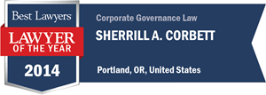 Sherrill A. Corbett has earned a Lawyer of the Year award for 2014!