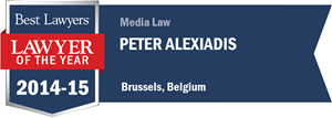 Peter Alexiadis has earned a Lawyer of the Year award for 2014!