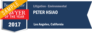 Peter Hsiao has earned a Lawyer of the Year award for 2017!
