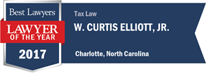 W. Curtis Elliott, Jr. has earned a Lawyer of the Year award for 2017!