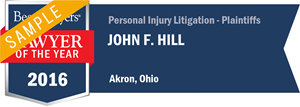 John F. Hill has earned a Lawyer of the Year award for 2016!