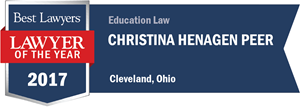 Christina Henagen Peer has earned a Lawyer of the Year award for 2017!