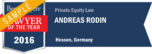 Andreas Rodin has earned a Lawyer of the Year award for 2016!