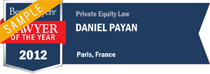 Daniel Payan has earned a Lawyer of the Year award for 2012!