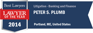 Peter S. Plumb has earned a Lawyer of the Year award for 2014!