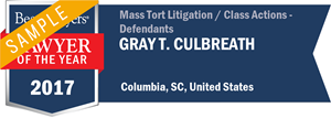 Gray T. Culbreath has earned a Lawyer of the Year award for 2017!