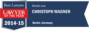 Christoph Wagner has earned a Lawyer of the Year award for 2014!