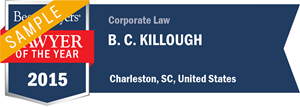 B. C. Killough has earned a Lawyer of the Year award for 2015!