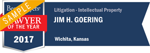 Jim H. Goering has earned a Lawyer of the Year award for 2017!