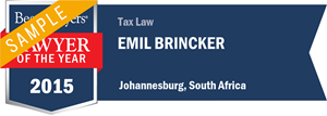 Emil Brincker has earned a Lawyer of the Year award for 2015!