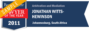 Jonathan Witts-Hewinson has earned a Lawyer of the Year award for 2011!