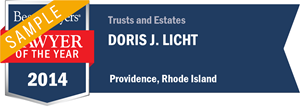 Doris J. Licht has earned a Lawyer of the Year award for 2014!