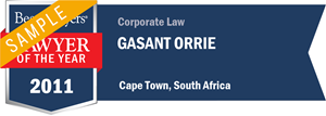 Gasant Orrie has earned a Lawyer of the Year award for 2011!