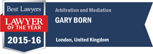 Gary B. Born has earned a Lawyer of the Year award for 2015!