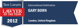 Gary B. Born has earned a Lawyer of the Year award for 2012!