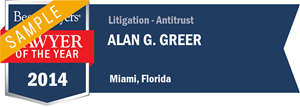 Alan Graham Greer has earned a Lawyer of the Year award for 2014!