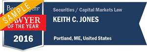 Keith C. Jones has earned a Lawyer of the Year award for 2016!