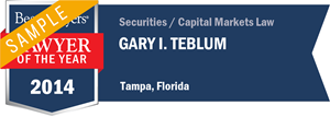 Gary I. Teblum has earned a Lawyer of the Year award for 2014!