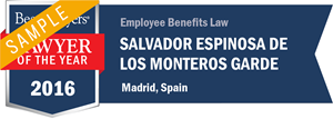 Salvador Espinosa de los Monteros Garde has earned a Lawyer of the Year award for 2016!