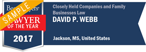 David P. Webb has earned a Lawyer of the Year award for 2017!