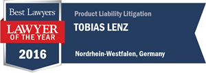 Tobias Lenz has earned a Lawyer of the Year award for 2016!