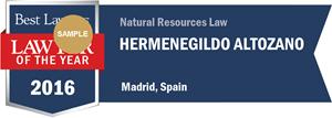 Hermenegildo Altozano has earned a Lawyer of the Year award for 2016!
