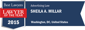 Sheila A. Millar has earned a Lawyer of the Year award for 2015!