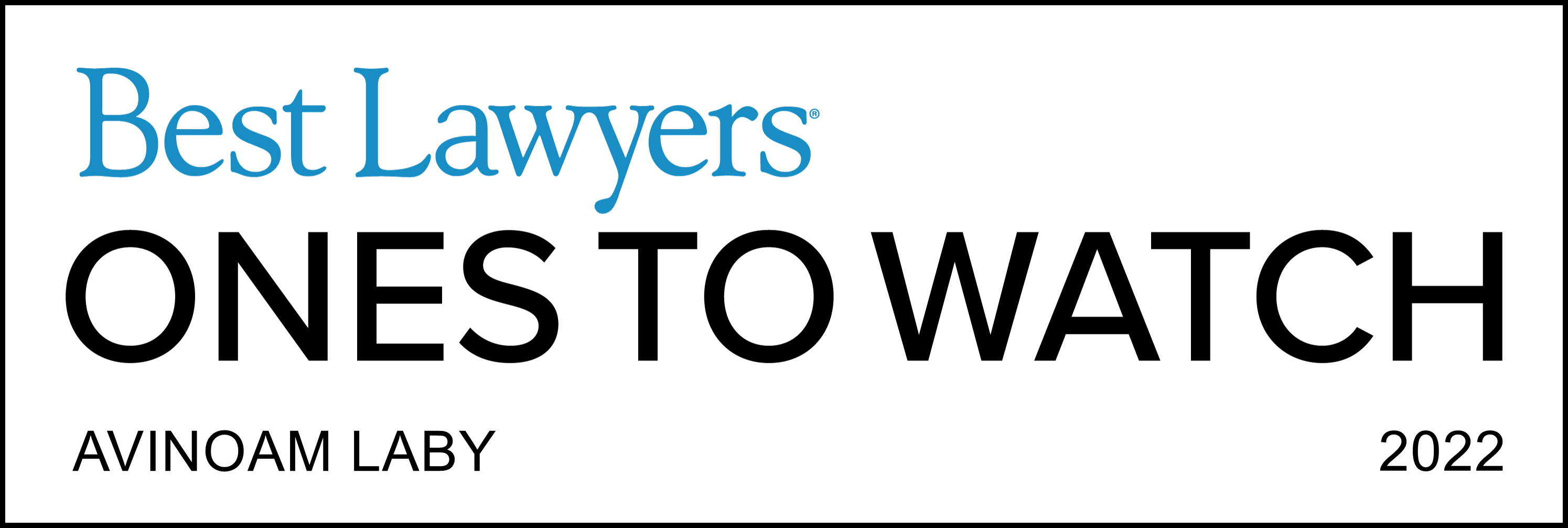 Ones To Watch - Lawyer Logo